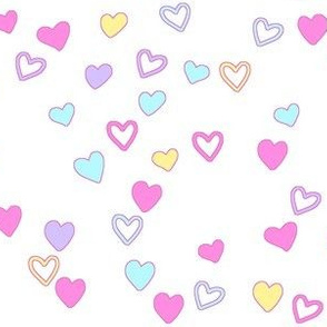 Doodle Hearts Coordinating Pastel