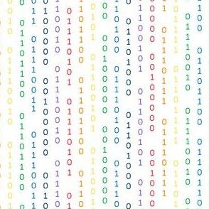FS Girls Rule the World Binary Code Rainbow