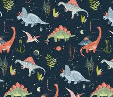 Dinosaur Cosmic Night
