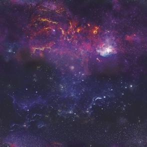 Galaxies Large Scale Purple Violet Stars