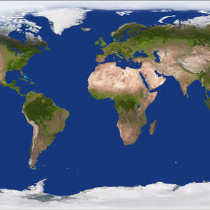 Earth Map Large Scale Surface