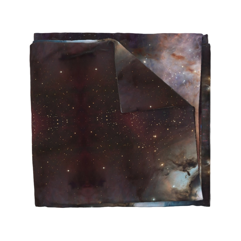 Wyandotte Duvet Cover featuring Galaxy Large Scale Stars Outer Space by azizakadyri