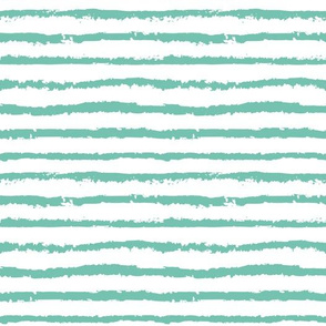 Mint bold stripes  abstract grungy stripes