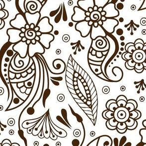 Mehndi or Henna  (Brown and White)