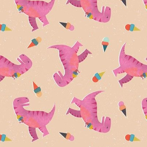 Pink Dino Ice Cream Party