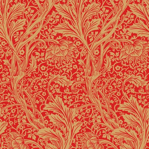 Arcadia ~ William Morris ~ Bespoke Red and Gold