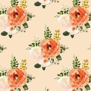 "4"" Parisian Autumn Bouquet Peach Back"
