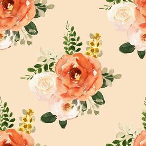 "8"" Parisian Autumn Bouquet Peach Back"