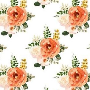 """4"""" Parisian Autumn Bouquet White"""