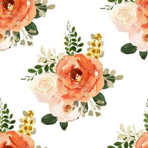 """8"""" Parisian Autumn Bouquet White"""