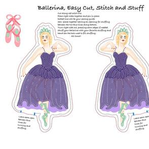 Ballerina Doll Cut And Stitch Purple