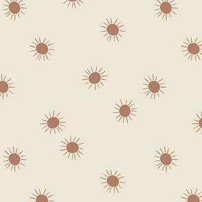 rainbow with rain - terracotta