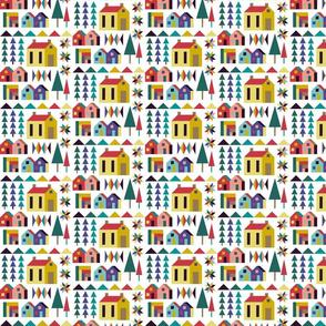 Color block quilt block