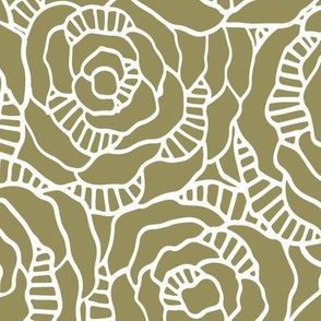 Modern Blossom - Sage - Large Scale