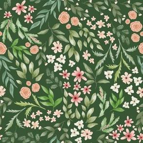 Botanical green sweet flower heaven
