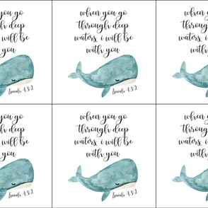 6 loveys: when you go through deep waters i will be with you // silver blue