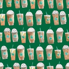 Coffee Cup Line Up in Green