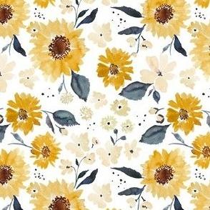 Sunflowers and cream MEDIUM 4.5x4.5
