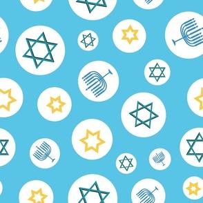 Hanukkah Mix on light blue background