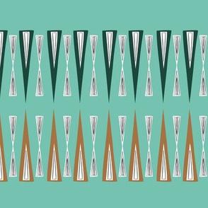 Midcentury modern angles - mint