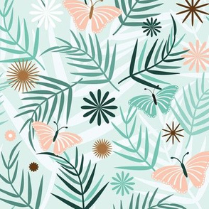 Fronds and Butterflies