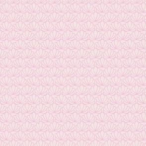Little island vibes shell summer scallop minimal tropical mermaid surf sea print pink nude xs