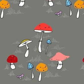 Mushrooms, GREY