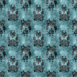Knot more pawprints - Deep Aqua dog paws