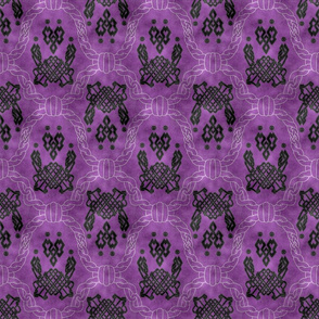 Knot more pawprints - Dark Plum dog paws