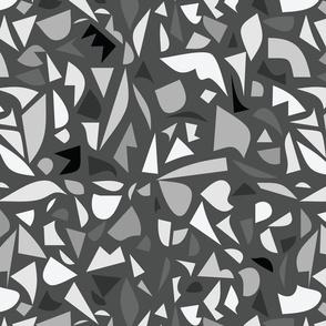 Abstract terrazzo - monochrome