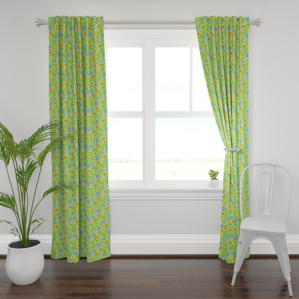 Plymouth Curtain Panel featuring Crunchy Veggies Harvest by alexmichiardi