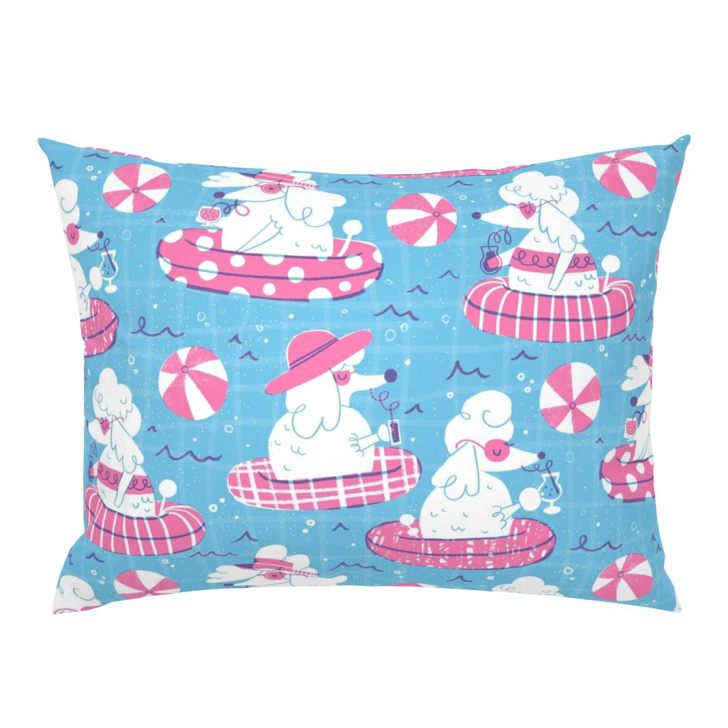 Campine Pillow Sham featuring Pool-dles Paradise by juliagreenillustration