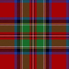 "Royal Stewart / Stuart tartan, wider red band, 6"""