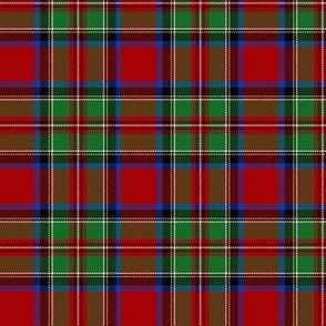 "Royal Stewart / Stuart tartan, wider red band, 3"""