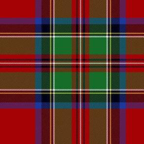 "Royal Stewart / Stuart tartan, wider red band, 7"""