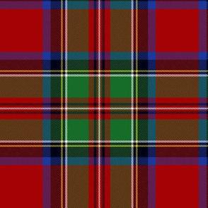 "Royal Stewart / Stuart tartan, 6"" bright"