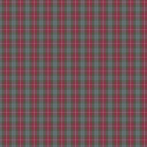 """Fraser red  tartan, 1.5"""" weathered (1:4 scale)"""