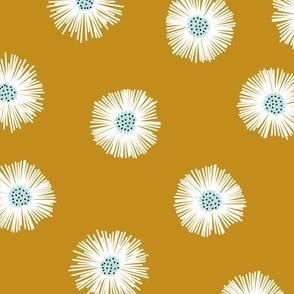 daisies - mustard