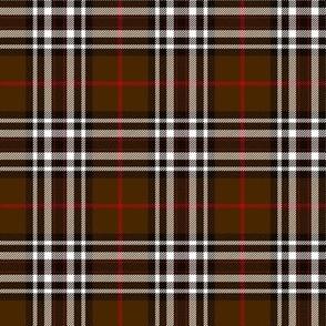 """Southdown tartan - 3"""" brown/black/white"""
