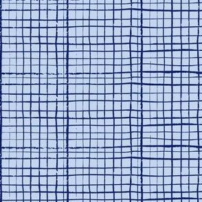 Funky Grid in Blue