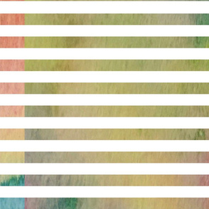 Rainbow Watercolor Stripes