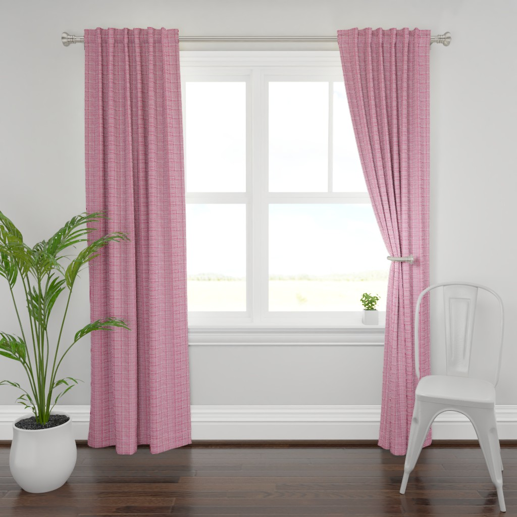 Plymouth Curtain Panel featuring Funky Grid in Pink by alexmichiardi