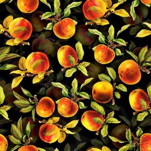 """18"""" Vintage Apples Fruit Pattern Black"""