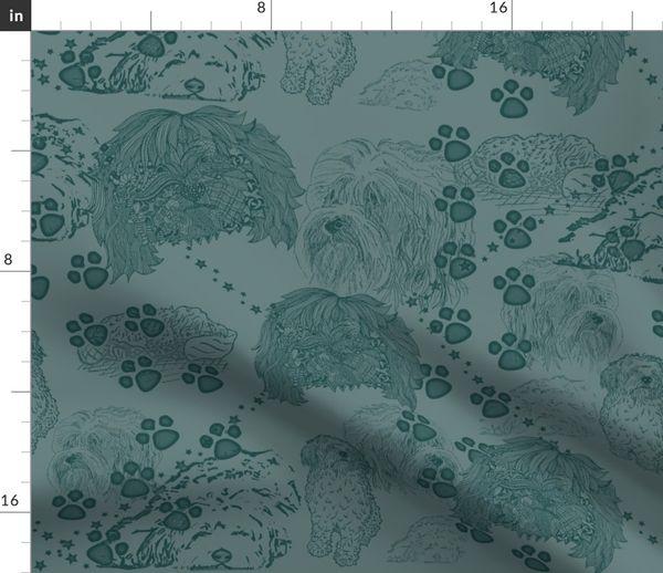 Fabric By The Yard Tibetan Terrier Dog Days