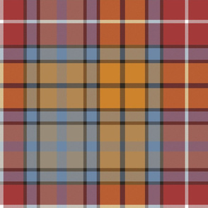 "Buchanan Ancient tartan - 16"" weathered red colors"