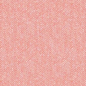 faux tweedy light coral herringbone tweed