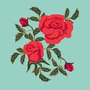 limited large rose expanded red