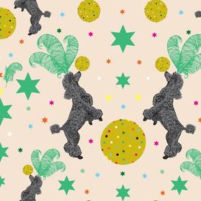Circus Poodles Cream