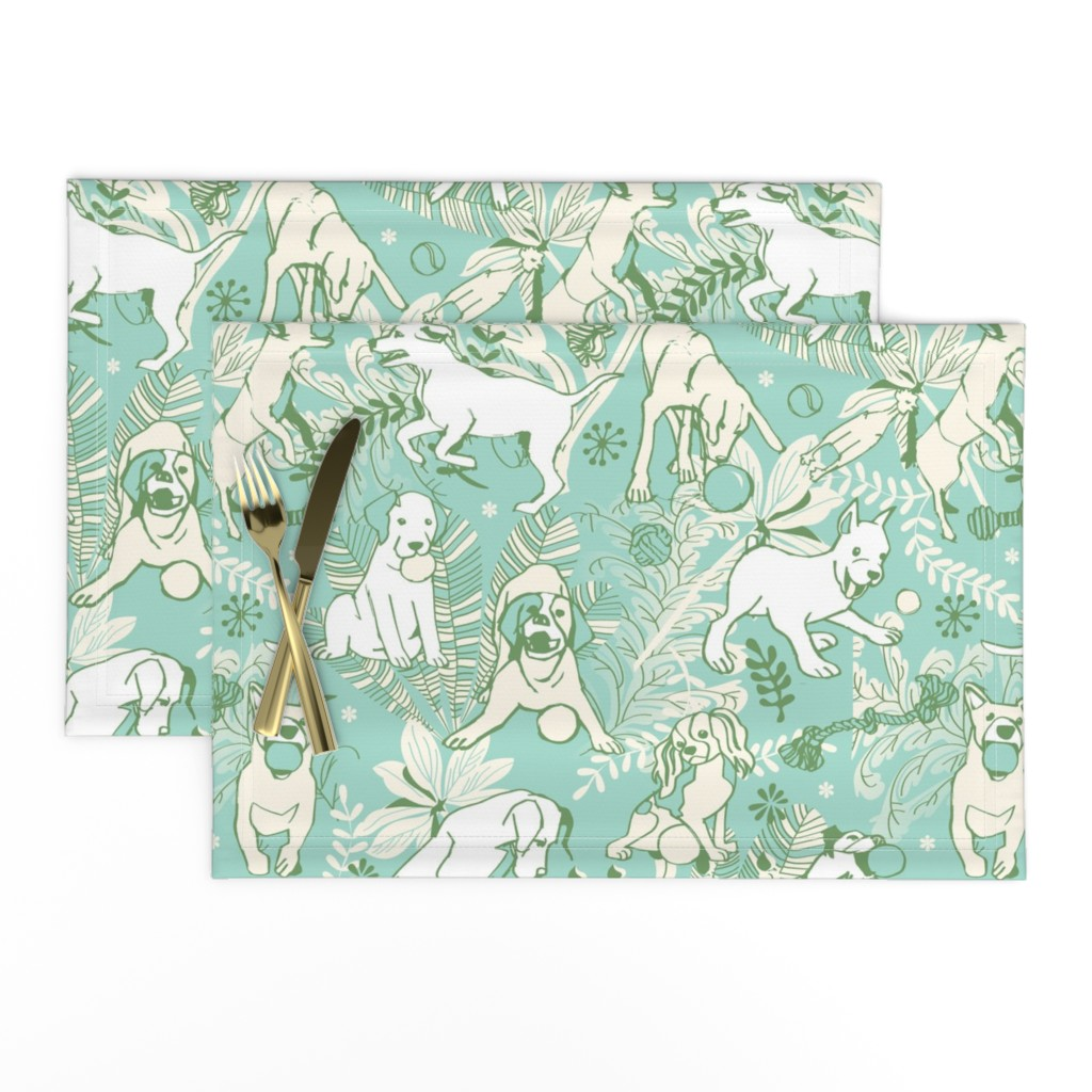 Lamona Cloth Placemats featuring Play catch by camcreative