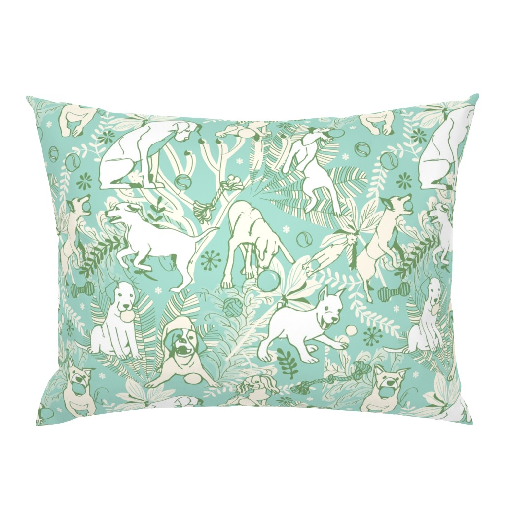 Campine Pillow Sham featuring Play catch by camcreative